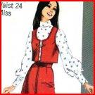 1970s JIFFY Western Vest and Pantskirt or Skirt Simplicity 9102