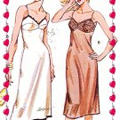SLIP Fitted-Full Sexy CUP SEAMS n Lace Misses size s m l xl Kwik Sew 1004