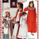 Girls Nightgown and Robe and Doll Nightgown size girls large 12 14 McCalls P921