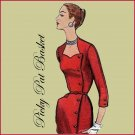 1950's Slim Wrap Around Dress Pattern with HIP POCKET size 16 1/2 bust 37 Simplicity 1685