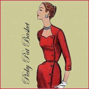 1950's Slim Wrap Around Dress Pattern with HIP POCKET size 16 1/2 bust 37 Simplicity 1685