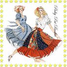 9 Gore Full Circle Square Dance Dress 2 styles - size 6 8 10 12 - Kwik Sew 913