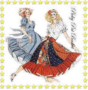 9 Gore Full Circle Square Dance Dress 2 styles - size 6 8 10 12 - Kwik Sew 913