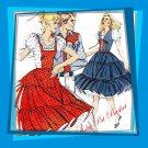 Kwik Sew 915 Western Square Dance Dress, Mock Laced Closing, 2 styles