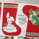 Precious Moments Christmas Stockings Bear Rabbit
