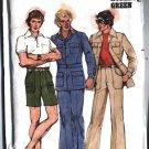 1970s Mens Retro JACKET Pants Shorts size 36 vintage sewing patternButterick 4710