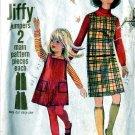Jiffy JUMPER Dress girls size 6 Simplicity 6704