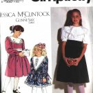 Gunna Sax Dress girls 12 - 14 vintage sewing pattern Simplicity 7588