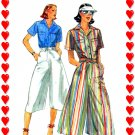 Butterick 5326 Culottes n Shirt misses vintage 1970s sewing pattern