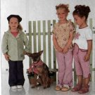 Hemline Half-Circle Top, Flared Pants, Petal Pushers Girls Sewing Pattern Burda 9937