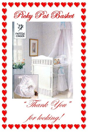Butterick 440 BABY Canopy, Crib Sheet, Dust Ruffle, Coverlet, Changing Table Cover