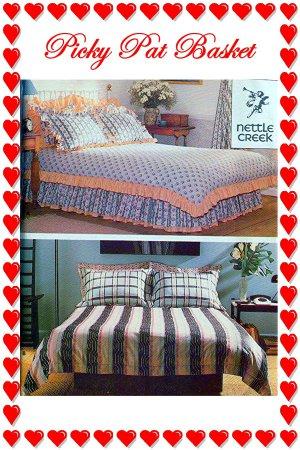 BED Duvet Cover, Pillow Sham, Dust Ruffle - Standard, Queen, King Butterick 5689