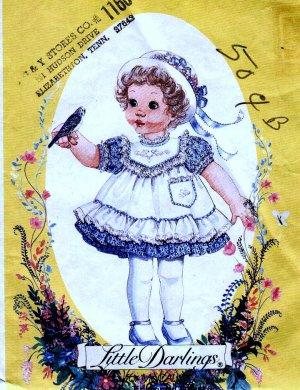 McCalls 8399 Girls PINAFORE, Dress toddler size 1 2 3