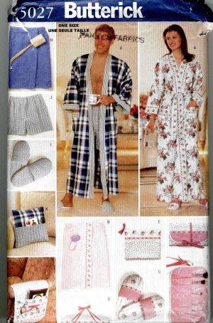 Unisex Men Women Gifts Robe Underware Bedroom Shoes Butterick 5027