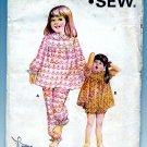 Kwik Sew Girks Pajamas Top Panties 451