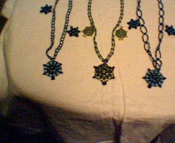Handcrafted Turtle necklaces and earrings