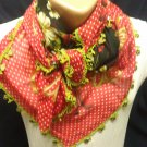 beatiful neck rag scarf shawl pretty design