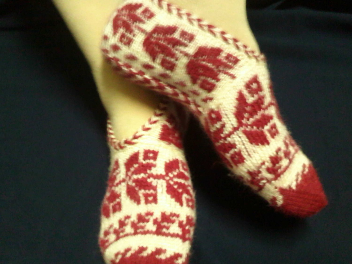beatiful handmade socks bootee with pretty design