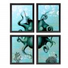 4 OCTOPUS 8x10 ART Prints WALL DECOR DONE BY ARTIST SoKe