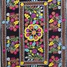Uzbek Velour Machine Embroidery Suzani  From Thashkent / Uzbekistan 128