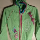 LADIES BABY GIRL JUNIOR SIZE SWEAT TOP SIZE M GREEN