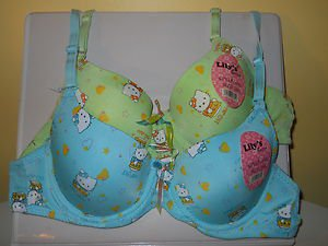 SET OF 2 LILY'S SECRET FASHION BRA SIZE 36A BLUE AND GREEN FREE SHIPPING