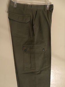 MEN CARGOLIKE PANTS GREEN SIZE 30W 30L