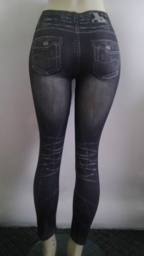 BAY6 LADIES JEANS LOOK LEGGING ONE SIZE FIT JUNIOR SIZE LIKE SMALL