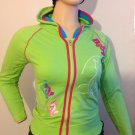 LADIES BABY GIRL JUNIOR SIZE SWEAT TOP SIZE MED GREEN