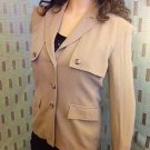 LADIES BLAZER/JACKET BEIGE SIZE 10