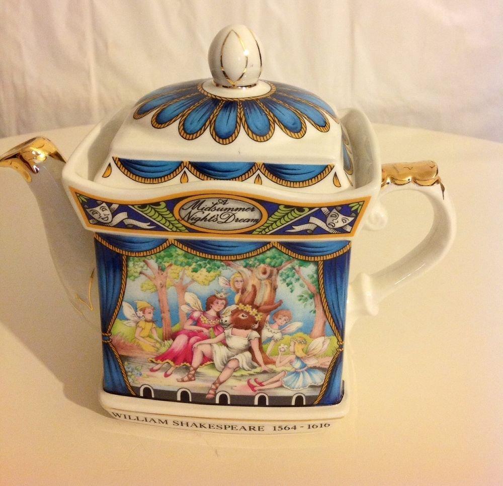 WILLIAM SHAKESPEARE 1564 - 1616 A MIDSUMMER NIGHT'S DREAM VINTAGE TEA POT