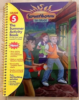 Math/Reading/Science Entering 5th Grade Summer Vacation Workbook Fun Book