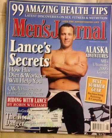 MEN'S JOURNAL 2005 JAN ULLRICH Lance Armstrong BICYCLE cycling TOUR DE FRANCE GO