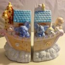 PAIR OF RUSS - ANIMAL NOAH'S ARK BOOKENDS 15195 - CHILD'S ROOM -  BIBLE