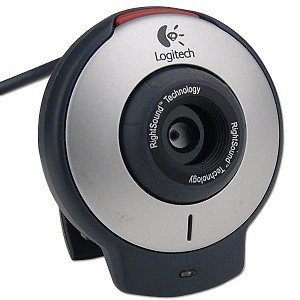 Logitech QuickCam for Notebooks USB Webcam w/Built-in Microphone & Laptop LCD Clip-On
