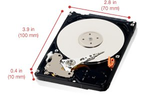 "Western Digital 2.5"" 320GB SATA 3.0Gb/s 5400rpm 8MB Notebook HDD"
