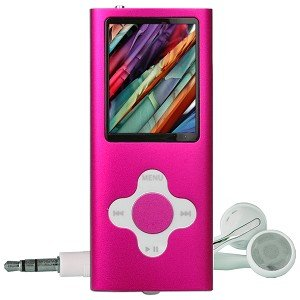 "4GB USB 2.0 MP3 Digital Music/Video FM Player & Voice Recorder w/2"" LCD & Camera (Pink)"