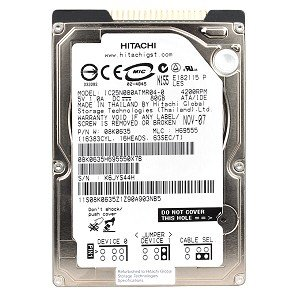 """Hitachi Travelstar 80GN 80GB UDMA/100 4200RPM 8MB 2.5"""" IDE Hard Drive"""