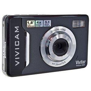Vivitar ViviCam 5022 5.1MP 4x Digital Zoom HD Camera (Black) - One Touch Sharing!