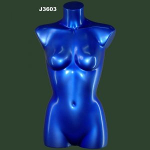 Blue Chrome Female Torso