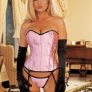 Wholesale bustier set only us$75.6 for  0.5dozen and shipping #7035( pink)