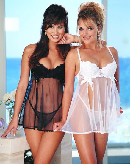 Wholesale hot babydoll only us$43.2 for 0.5dozen and shipping #2047(black & white)