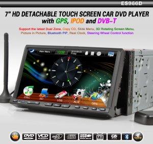 "7"" 2 Din HD Car Multimedia Player, Touchscreen, GPS Digital TV, DVD, Radio, USB, Car DVD player"