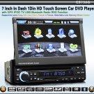 7 Inch 1 Din Car Audio GPS DVD Touch Screen TV Radio USB SD-758