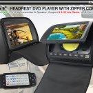 9 inch car headrest LCD monitor IR&FM Transmitter USB SD Built-in DVB-T