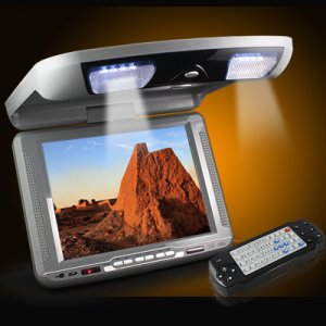 NEW FLIP DOWN OVERHEAD LCD CAR MONITOR DVD PLAYER USB