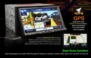 7 inch Touchscreen Car DVD Player System with GPS Navigator-708G
