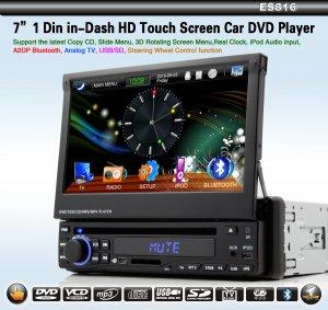 "7 "" 1 Din Car DVD MP3 Player TV Bluetooth Radio-ES816"