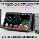 7 inch Double Din 3DCar DVD Player DVB-T(MPEG4) GPS TMC Bluetooth PIP Detachable Panel -896T