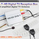 MPEG-4 MEPG 2 Digital TV DVBT receiver box HD With 2 amplified digital TV Antenna